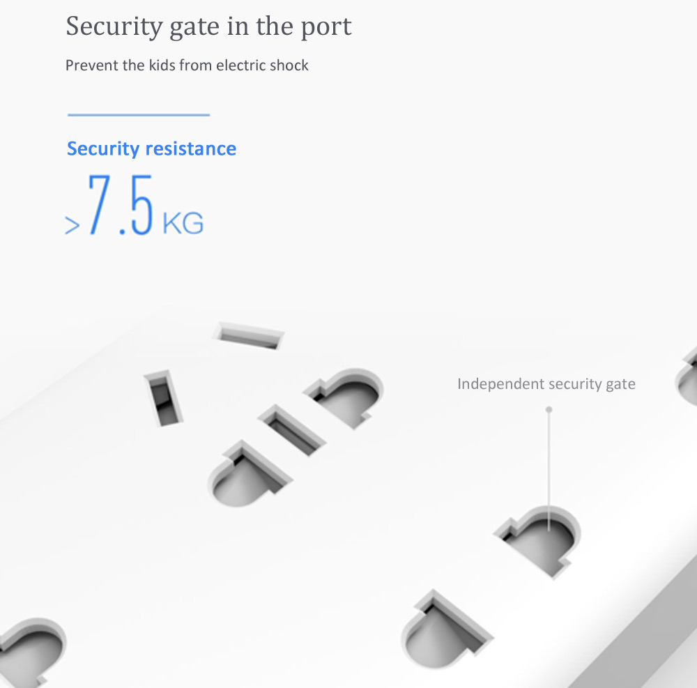 Xiaomi Tira de Alimentación Seguridad