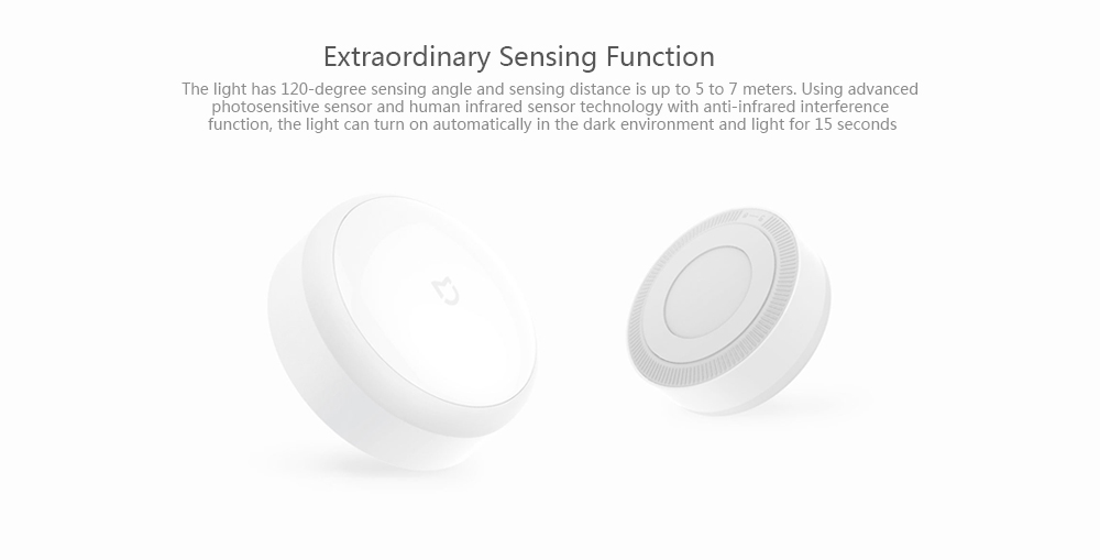 Xiaomi MiJIA IR Night Light Detección