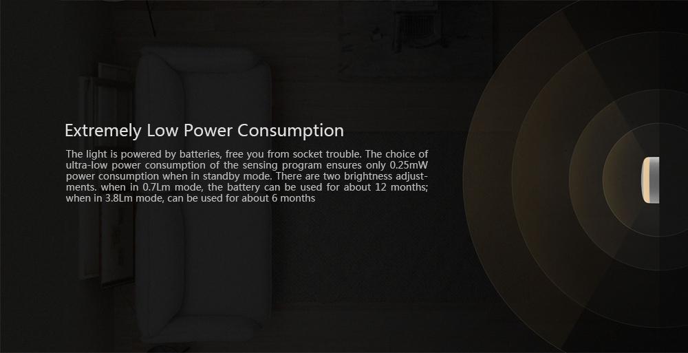 Xiaomi MiJIA IR Night Light Consumo