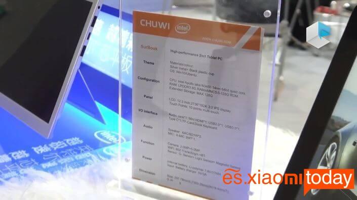 Chuwi SurBook especificaciones