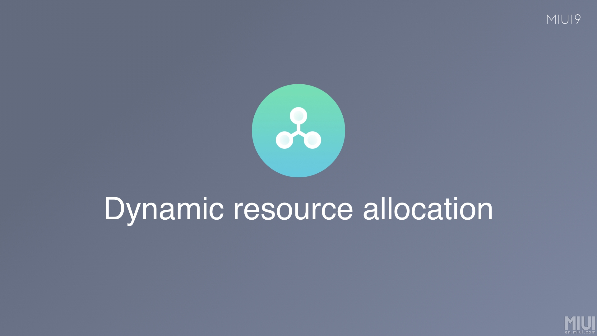 MIUI 9 Asignación dinámica de recursos