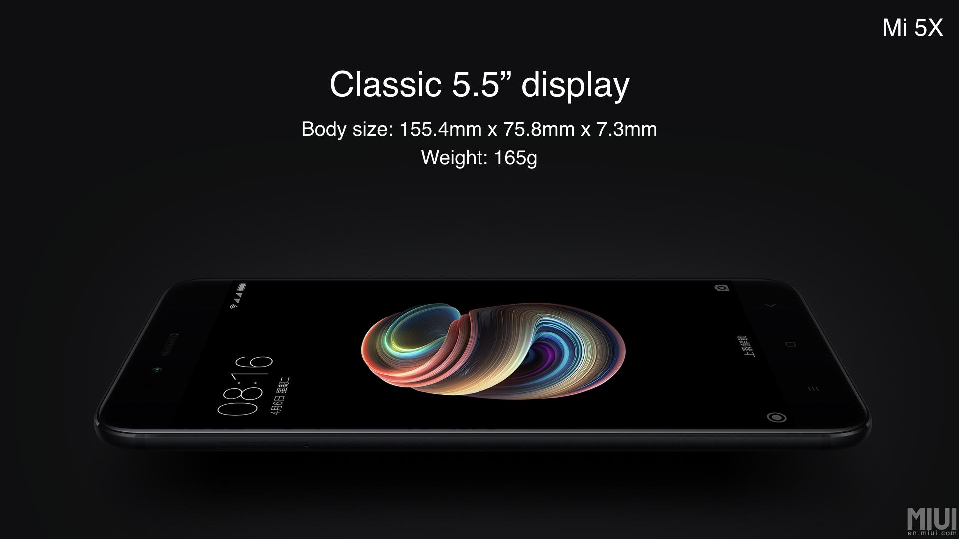 Xiaomi Mi 5X: Diseño y pantalla