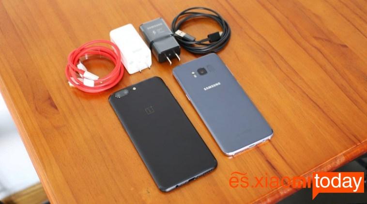 OnePlus 5 vs Samsung Galaxy S8 Batería