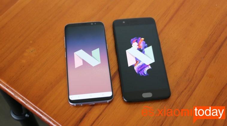 OnePlus 5 vs Samsung Galaxy S8 sistema operativo
