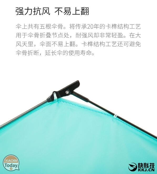 Sombrilla Xiaomi carbono