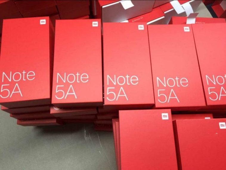Xiaomi Redmi Note 5A caja