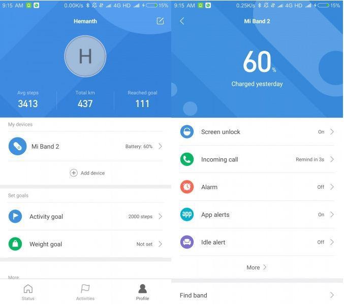 Xiaomi Mi Fit App