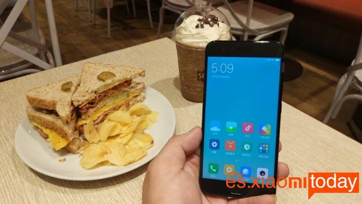 Xiaomi Mi 6 edición de cerámica parte frontal