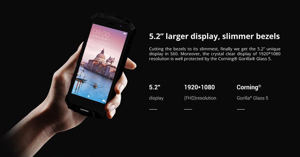Doogee S60 pantalla