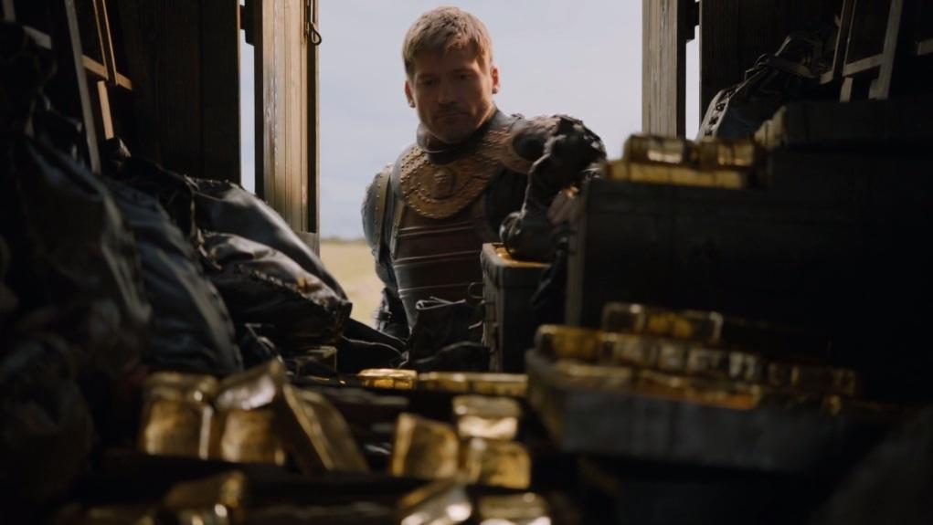 GoT jaime lannister y el botín de guerra de alto jardín