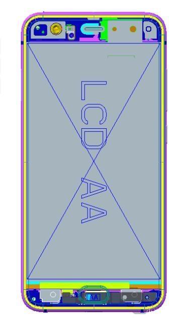 Xiaomi Mi 6: diagrama del pegamento