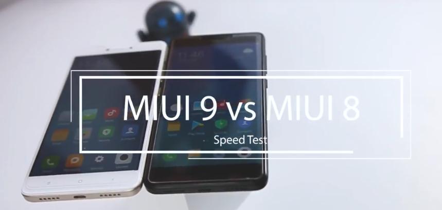 MIUI 8 vs MIUI 9: prueba de velocidad