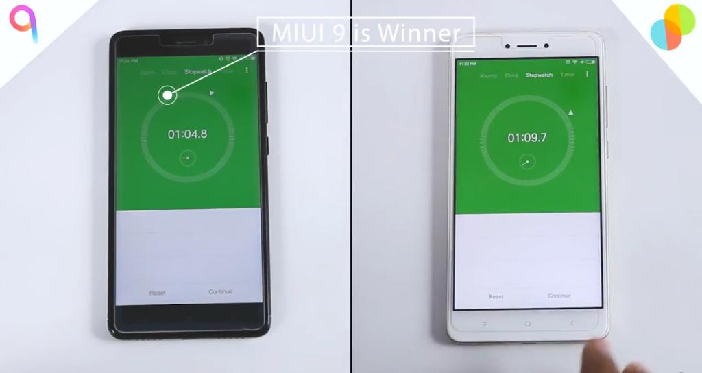 MIUI 8 vs MIUI 9: segunda prueba