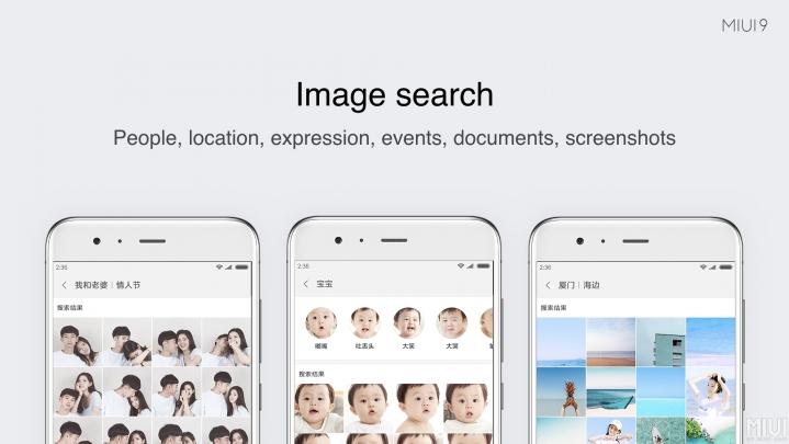 MIUI 9 búsqueda de imágenes