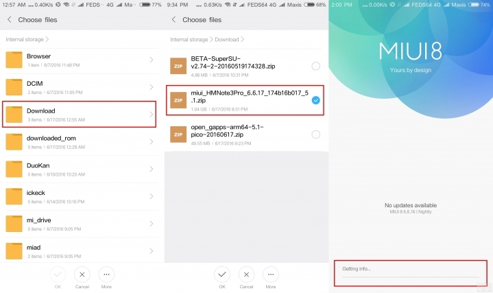 MIUI 9 método de actualización
