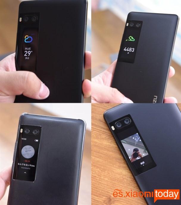 Meizu Pro 7 Plus: pantalla posterior funciones