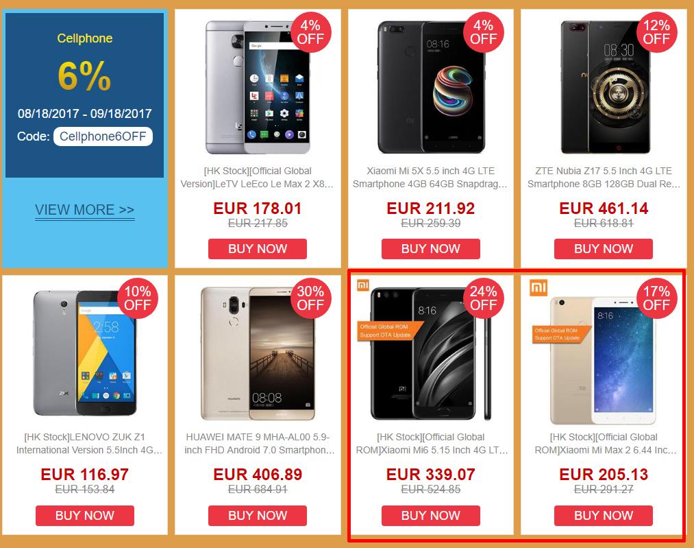 Smartphones Xiaomi en oferta