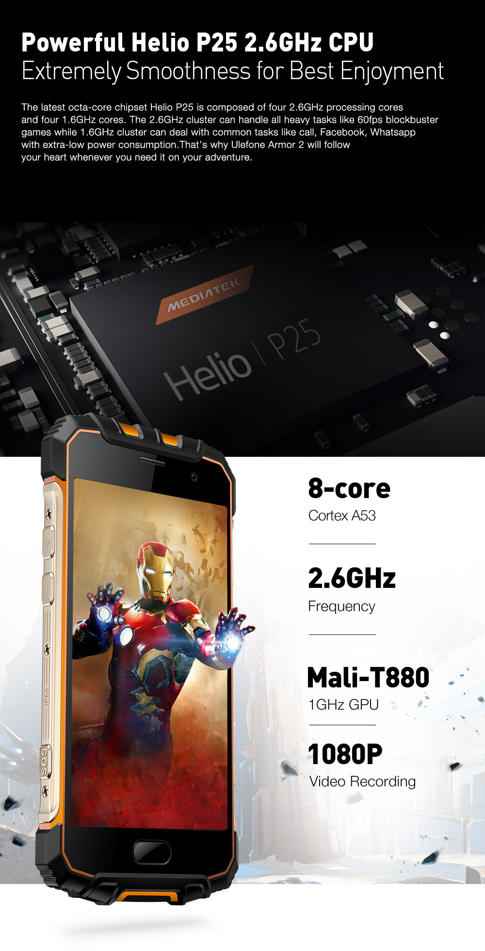 Ulefone Armor 2 procesador