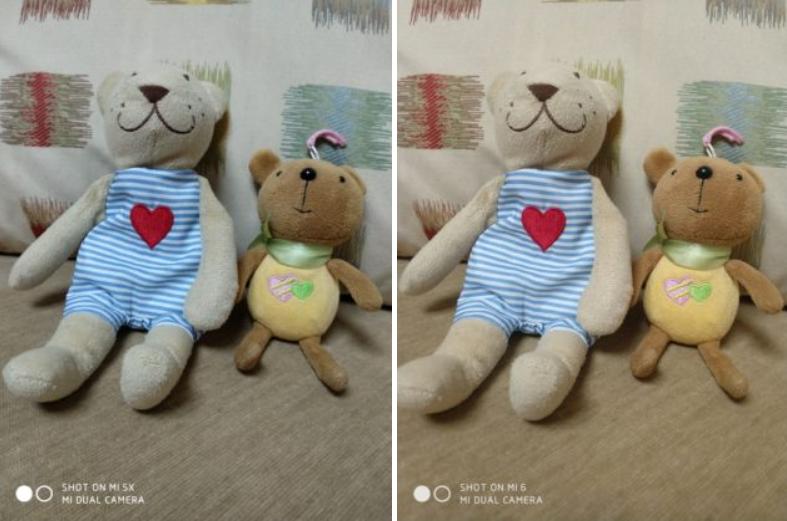 Xiaomi Mi 5X vs Xiaomi mi 6 modo Retrato
