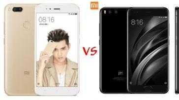 Xioami Mi 5X vs Xiaomi Mi 6 cámara destacada