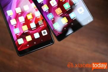 Xiaomi Mi MIX vs Xiaomi Mi MIX 2 comparación tamaño