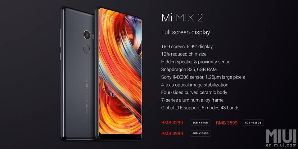 Xiaomi Mi MIX 2: un Hardware potente