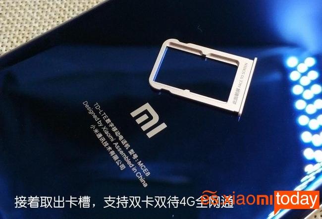 Xiaomi Mi Note 3 bandeja para tarjeta SIM