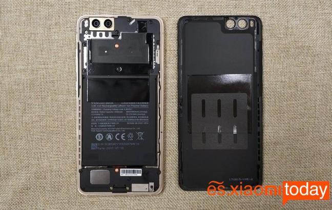 Xiaomi Mi Note 3 diseño interior