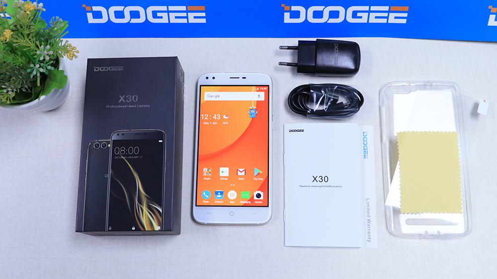 DOOGEE X30 contenido del paquete