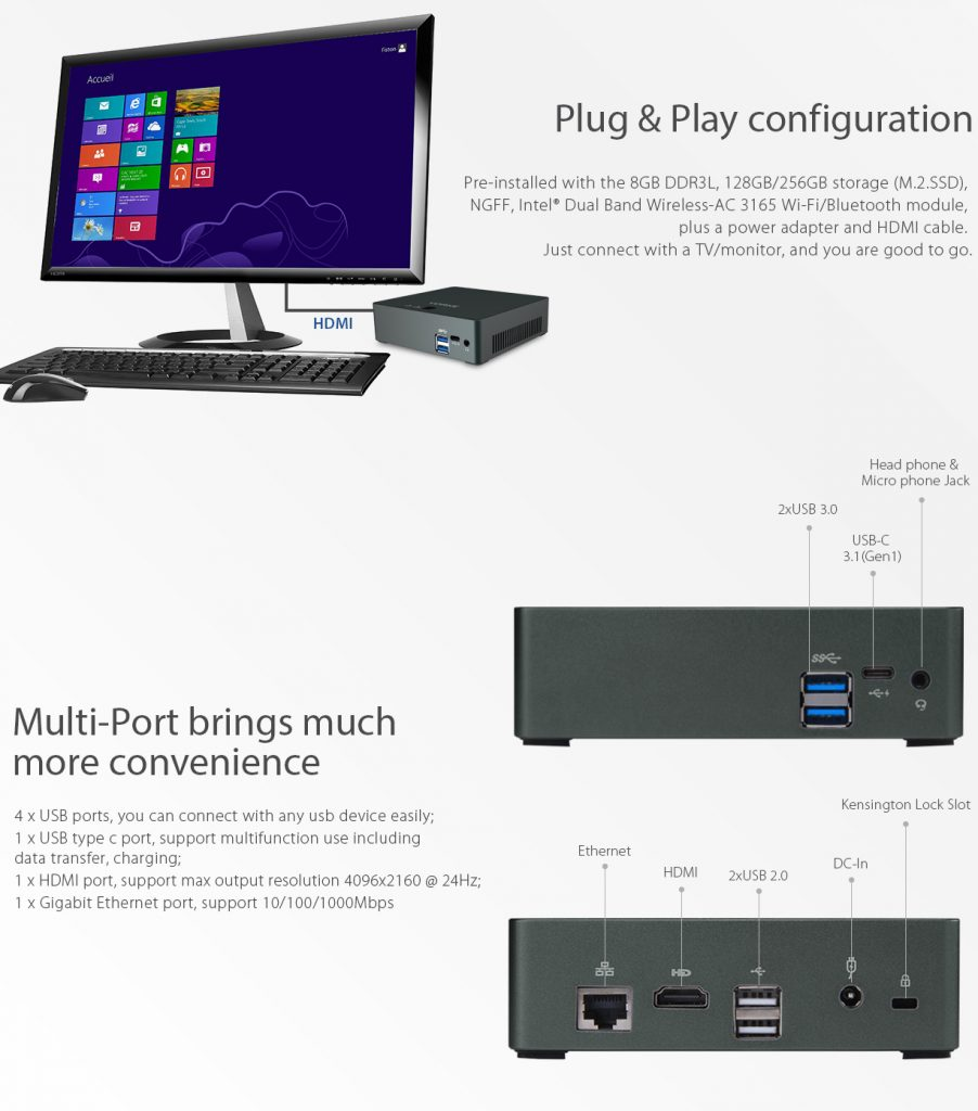 Geekbuying VORKE V2 Plus puertos