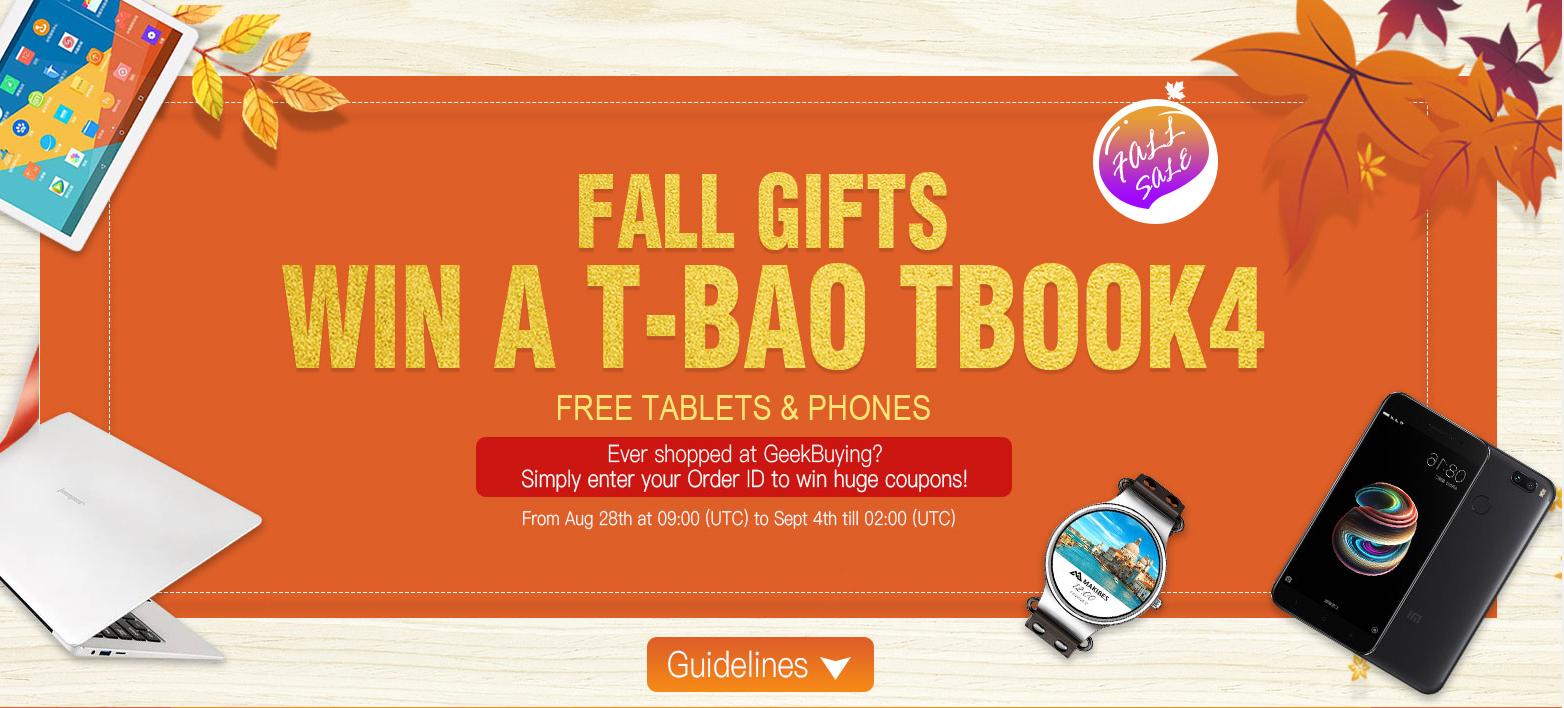 Geekbuying nos presenta sus ofertas de otoño y Lucky Gifts