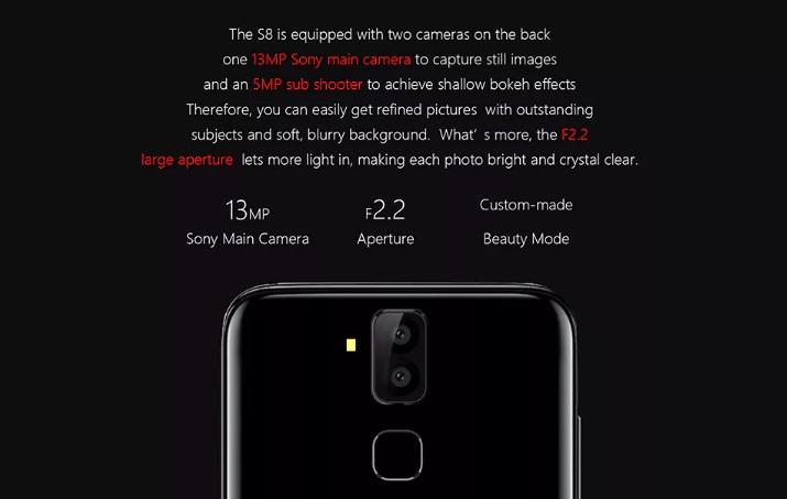 Meiigoo S8 camera
