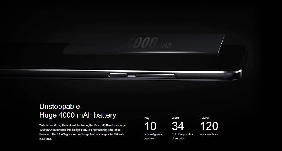 Meizu M6 Note batería