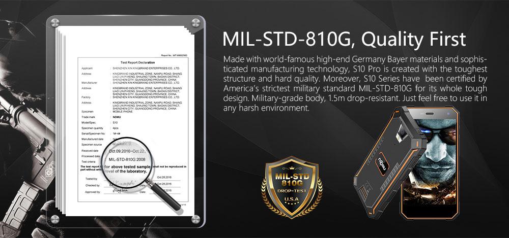 Nomu S10 Pro certificado militar