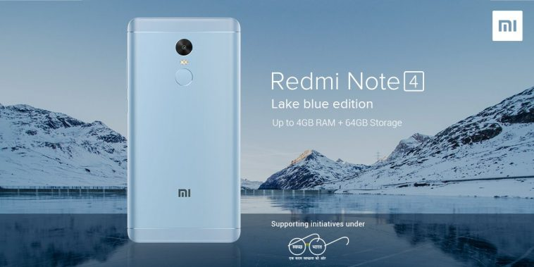 Redmi Note 4 Lake Blue destacada