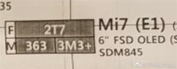 Xiaomi Mi 7 filtración