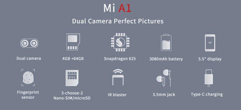 Geekbuying Xiaomi Mi A1 características