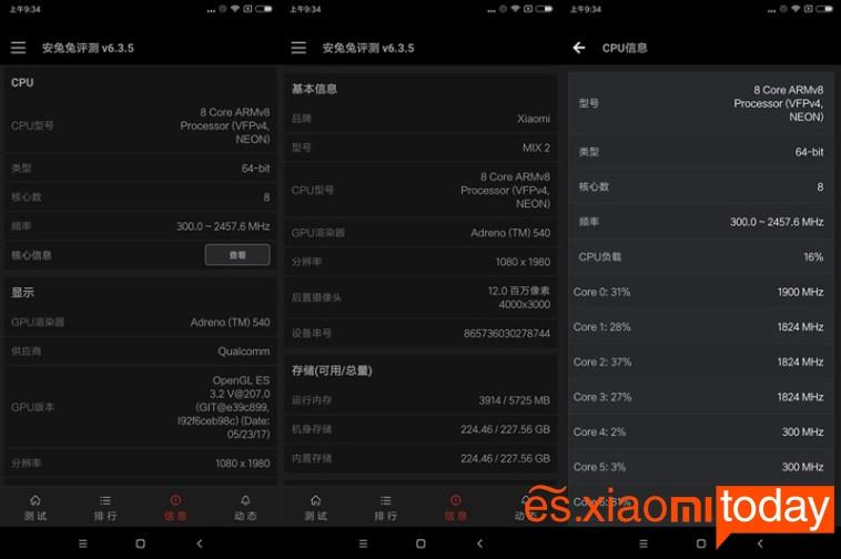 Xiaomi Mi MIX 2 hardware