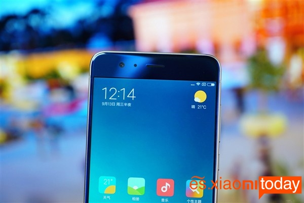 Xiaomi Mi Note 3 frontal superior