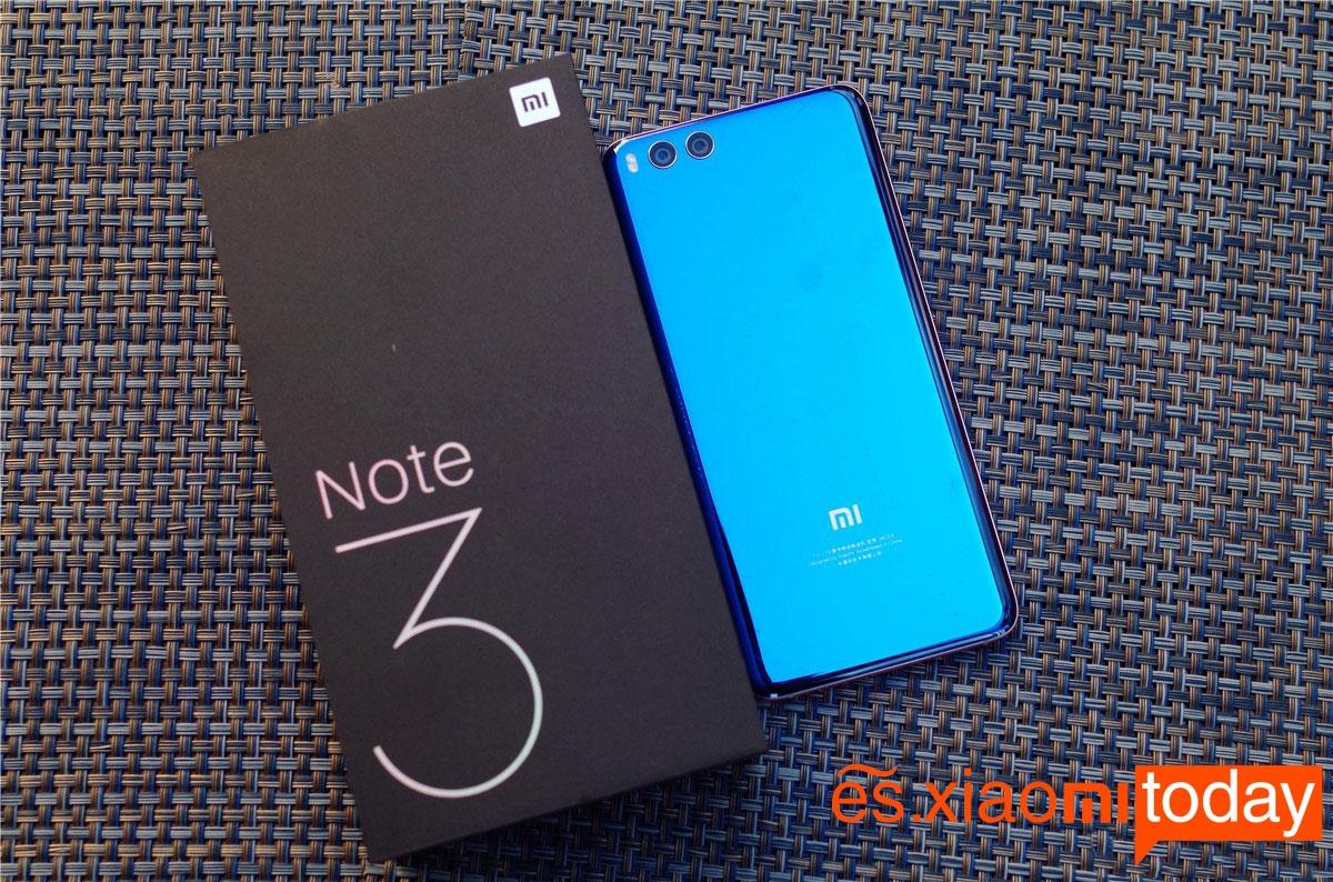 Xiaomi Mi Note 3 destacada