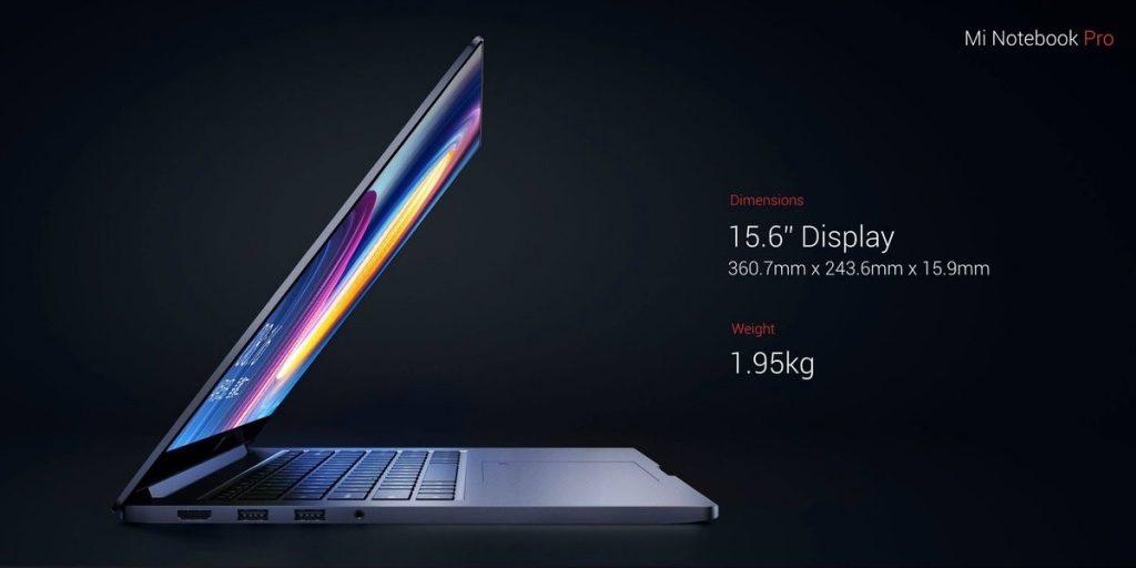 Geekbuying Xiaomi Mi Notebook Pro cuerpo