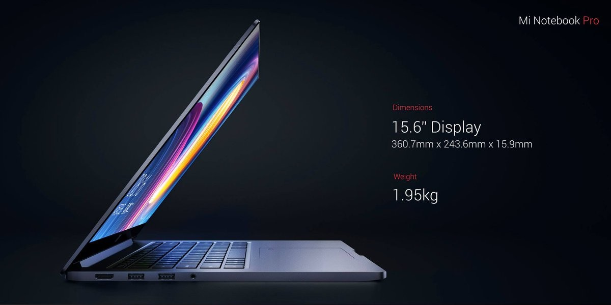 Xiaomi Mi Notebook Pro Diseño