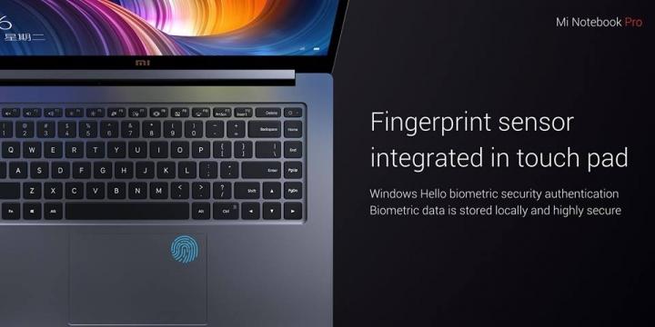 Xiaomi Mi Notebook Pro Sensor huellas
