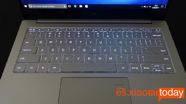 Xiaomi Mi Notebook Air 13.3 teclado luces