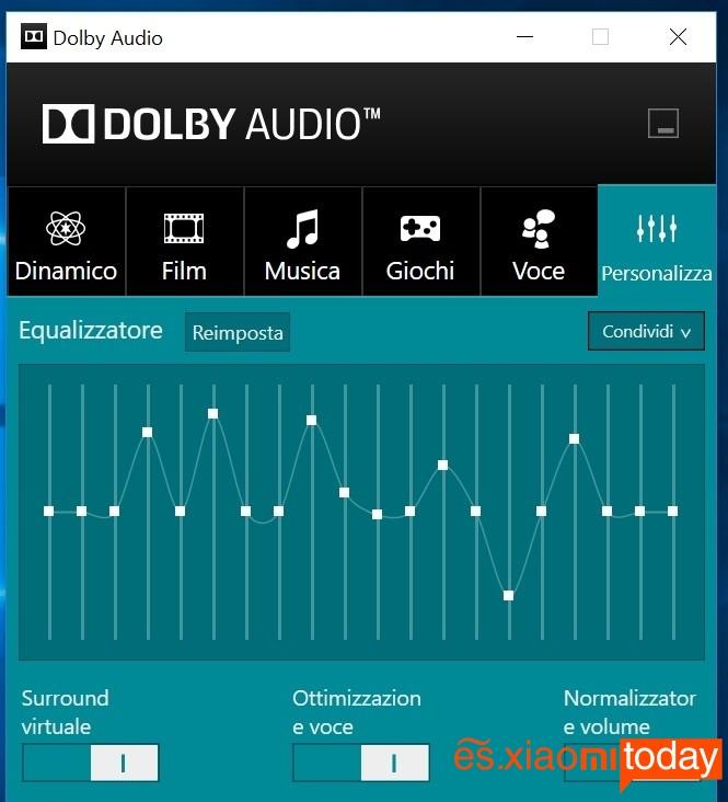 Xiaomi Mi Notebook Air 13.3 audio