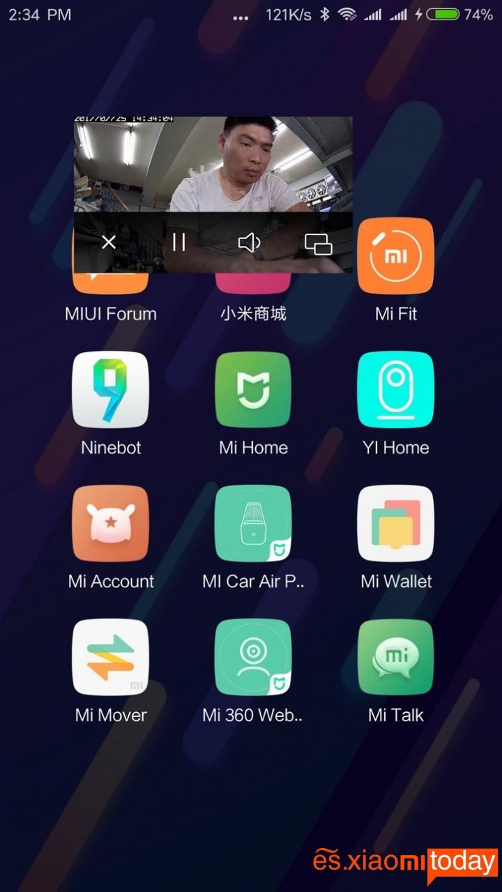 Cámara Xiaomi Mijia 1080P función de minimizar