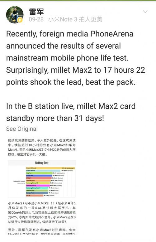 Xiaomi Mi MAX 2 publicación