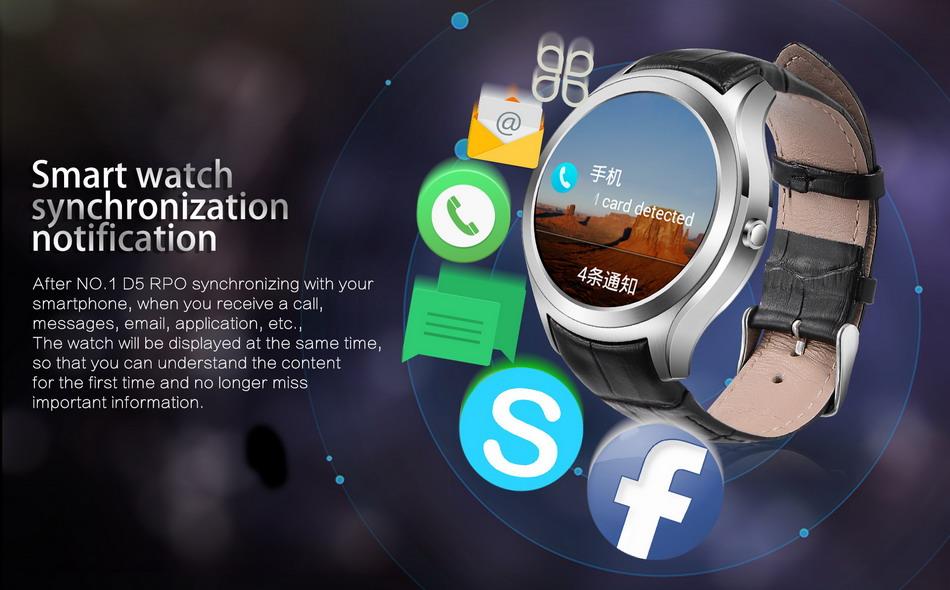 NO.1 D5 Pro 3G sincronización