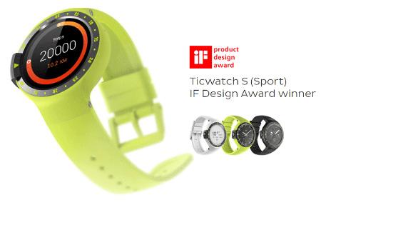 Ofertas de Halloween Geekbuying-Ticwatch S Sport muestra