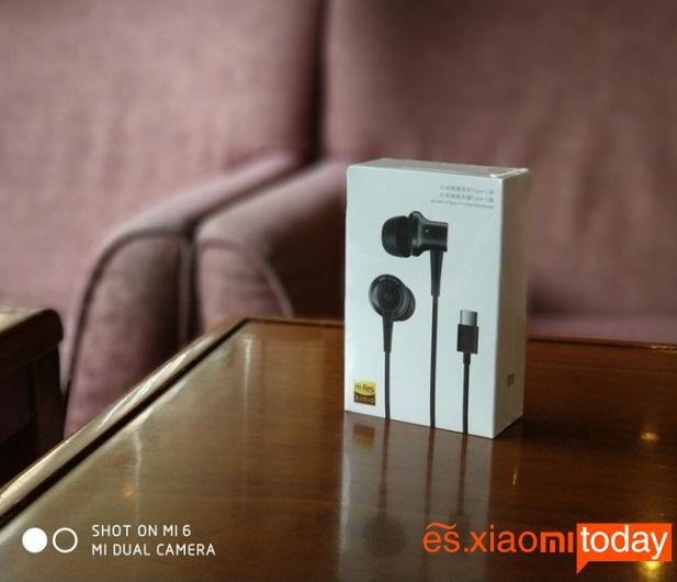 Xiaomi Mi ANC caja parte frontal